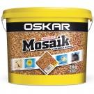 Tencuiala decorativa acrilica, interior / exterior, Oskar Mosaik 9722, mozaicata, 25 kg