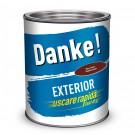 Vopsea alchidica pentru lemn / metal, Danke, exterior, maro roscat, 0.75 L