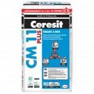 Adeziv gresie si faianta Ceresit CM 11 Plus, gri, pentru interior / exterior, 25 kg