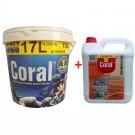 Vopsea superlavabila interior Coral, alb, 17 L + amorsa Coral 4 L