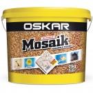 Tencuiala decorativa acrilica, interior / exterior, Oskar Mosaik 9715, mozaicata, 25 kg
