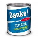 Vopsea alchidica pentru lemn / metal, Danke, interior / exterior, rosu aprins, 0.75 L