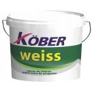 Vopsea lavabila interior Kober Weiss, alb, 8.5 L