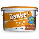 Tencuiala decorativa acrilica, interior / exterior, Danke Textur, maro accent, structurata, 25 kg