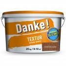 Tencuiala decorativa acrilica, interior / exterior, Danke Textur, ciocolatiu, structurata, 25 kg