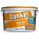 Tencuiala decorativa acrilica, interior / exterior, Danke Textur, cafeniu, structurata, 25 kg