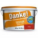 Tencuiala decorativa acrilica Danke Textur, rosu, structurata, 25 kg
