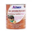 Lac / lazura extra 3 in 1 pentru lemn, Kober Extra, nuc, interior / exterior, 0.75 L