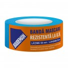 Banda mascare, rezistenta la UV, Baudeman, interior / exterior, albastru, 50 mm