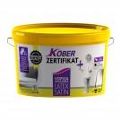 Vopsea ultralavabila interior Kober Zertificat Plus Latex satin alb 8.5L