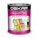 Vopsea pentru lemn / metal, Oskar Aqua Matt, interior / exterior, pe baza de apa, neagra, 2.5 L