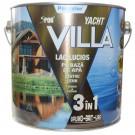 Lac pentru lemn Spor Villa Yacht, mahon, pe baza de apa, interior / exterior, 2.5 L