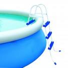 Scara pentru piscina supraterana, Bestway 58044, metal + plastic, H 107 cm