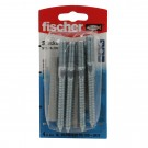 Prezon lemn / metal, Fischer STS, din otel, 10 x 100 mm + diblu nylon, UX 12, set 4 bucati