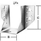 Papuc grinda tip A, din otel zincat, Vormann, 40 x 100 mm