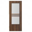 Usa interior celulara cu geam, Porta Doors Verte Stil, stanga, nuc, 203 x 84.4 x 4 cm