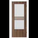 Usa interior celulara cu geam, Porta Doors Verte Stil, dreapta, nuc, 203 x 84.4 x 4 cm