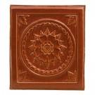 Placa teracota floral maro