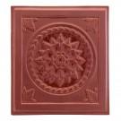 Placa medalion teracota Floral maro