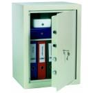 Seif mobila Rottner MNO65 T02461, cheie cu bolturi, din metal, gri deschid, 66 x 49 x 41 cm