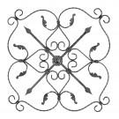 Element fier forjat rozeta RZ 002, 830 x 830 mm