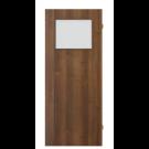 Usa interior celulara cu geam, Porta Doors Verte Decor, stanga, nuc, 203 x 64.4 x 4 cm