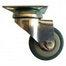 Roata pivotanta, din cauciuc siliconic, fara frana, cu placa, 50 mm, 40 kg