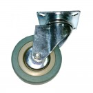 Roata pivotanta, din cauciuc siliconic, fara frana, cu placa, 75 mm, 60 kg
