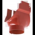 Racord jgheab 125 mm - burlan 87 mm, tip 1, Novatik, rosu RR29, 0.6 mm