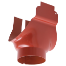 Racord jgheab 150 mm - burlan 100 mm, tip 1, Novatik, rosu RR29, 0.6 mm