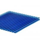 Policarbonat celular cu 2 pereti, albastru, 2000 x 1050 x 4 mm