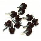 Surub pentru tigla metalica, autoforant, Lindab RT, maro, 4,8 x 20 mm, 250 bucati