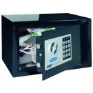 Seif mobila Rottner Design Junior T05533, electronic + cheie, din metal, negru, 20 x 31 x 23 cm