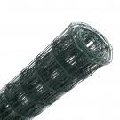 Plasa gard ornamental Grunman, acoperita cu PVC, verde, 0,6 x 10 m (2,1 x 100 x 60 mm)