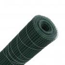 Plasa gard ornamental Grunman, acoperita cu PVC, verde, 0,5 x 10 m (1,2 x 13 x 13 mm)