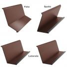 Set cos fum Bilka 4 piese maro mat (RAL 8017) 0.5 mm EN 10143