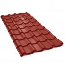 Tigla metalica Bilka Balcanic, rosu inchis mat (RAL 3009), 2930 x 1180 x 0.5 mm EN 10143