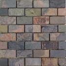 Mozaic ardezie multicolora, interior / exterior, 3 x 6 cm