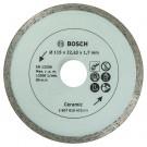 Disc diamantat continuu pentru debitare placi ceramice Bosch, 115 x 22.23 x 1.7 mm