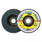 Disc lamelar frontal, pentru metal, Klingspor SMT 624, 125 x 22.23 mm, granulatie 40