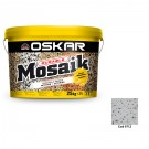 Tencuiala decorativa acrilica, interior / exterior, Oskar Mosaik 9712, mozaicata, 25 kg