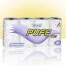 Hartie igienica Puff De Luxe, celuloza, 4 straturi, 8 role