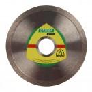 Disc diamantat, continuu, pentru debitare placi ceramice, Klingspor DT 300 F Extra, 125 x 22.23 x 1.60 mm