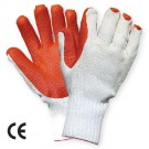 Manusi de protectie antiintepatura, tricot + latex dublu, marime universala, SuperGrip