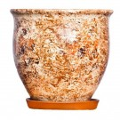 Ghiveci ceramic Cilindru 3, diverse culori, rotund, 28 x 26 cm