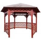 Pavilion hexagonal din lemn 3,5 x 4 x 3,2 m