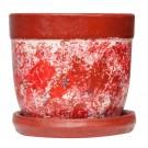 Ghiveci ceramic AC1, rotund, 14 x 13 cm