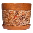 Ghiveci ceramic AC3, rotund, 19 x 15.5 cm