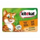 Hrana umeda pentru pisici, Kitekat Meniuri Alese, iepure si miel, 4 x 100 g