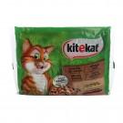 Hrana umeda pentru pisici Kitekat, meniu vanat, 4 x 100 g